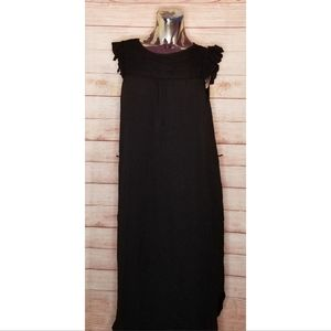H&M Black Ruffle Sleeveless Dress